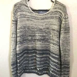 Paper crane large soft grey sweater long sleeves